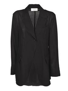 Sportmax - Cursore single-breasted jacket in black