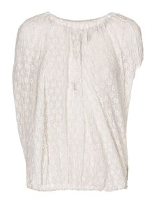 Jil Sander - Embroidered top in white