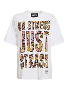 Versace Jeans Couture - Baroque lettering T-shirt in white
