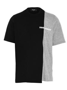 Dsquared2 - Bi-Chrome T-shirt in black and gray