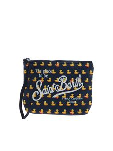 MC2 Saint Barth - Aline Ducky bag in blue and yellow
