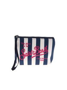 MC2 Saint Barth - Aline striped bag in blue and white