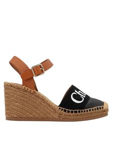 Chloé - Espadrille logo sandals in black