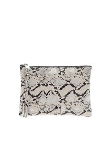 Gum Gianni Chiarini - Reptile print clutch bag in beige