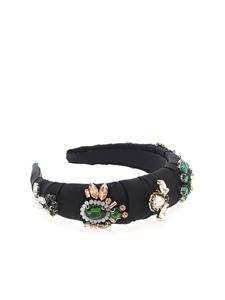 Vivetta - Rhinestones headband in black