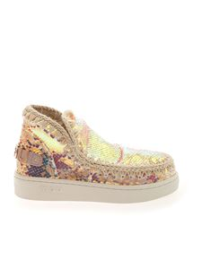 Mou - Summer Eskimo sequins sneakers in pink