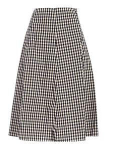 Woolrich - Checked skirt in beige and blue