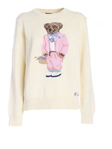POLO Ralph Lauren - Picnic Polo Bear sweater in ivory color