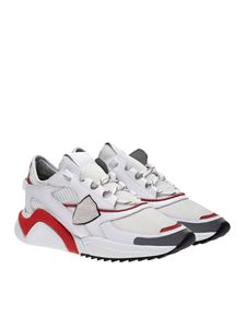Philippe Model - Eze low sneakers in white and red