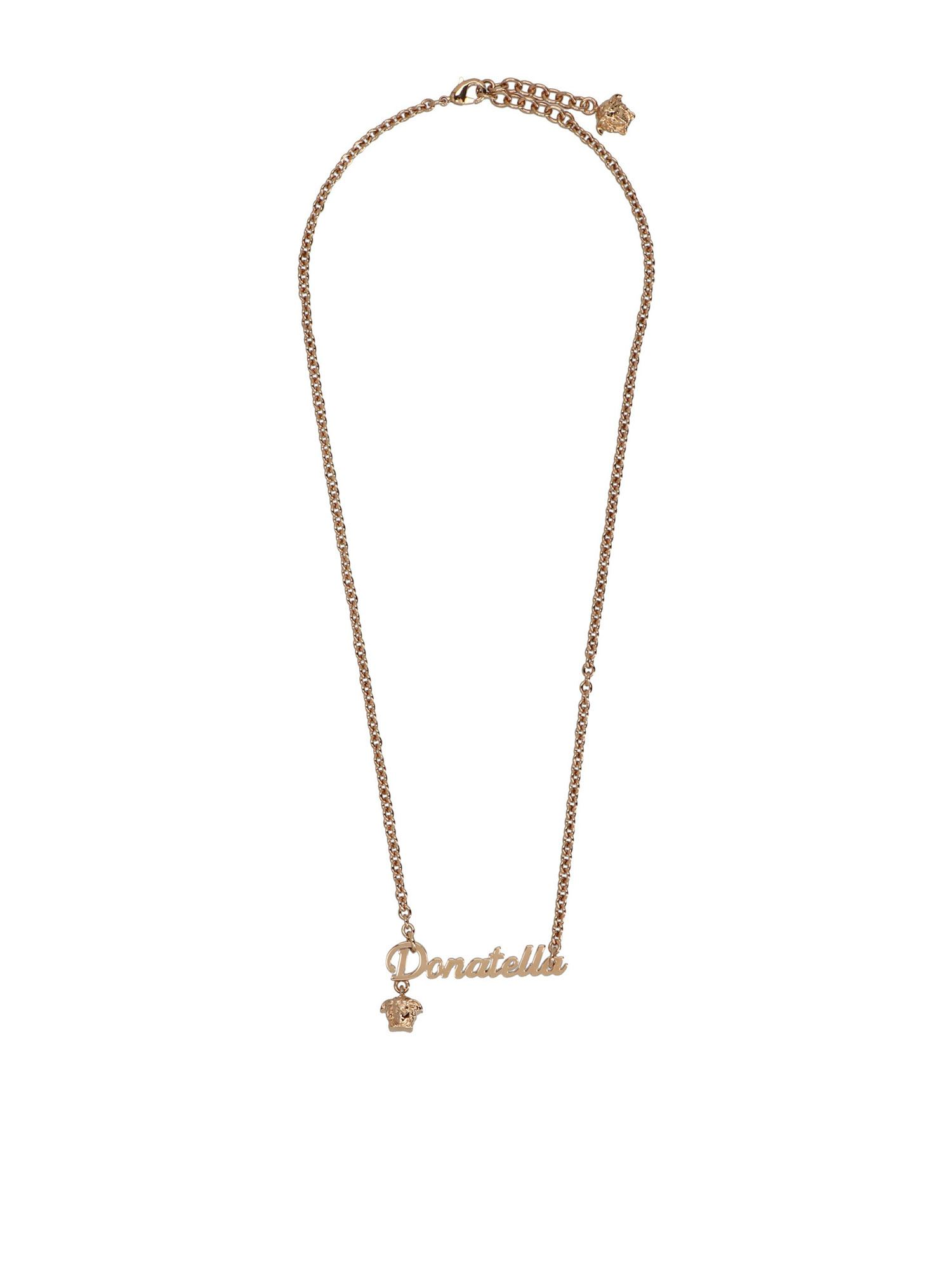 Versace DONATELLA NECKLACE IN GOLD FINISH