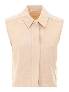 Sportmax - Linen cotton sleeveless shirt