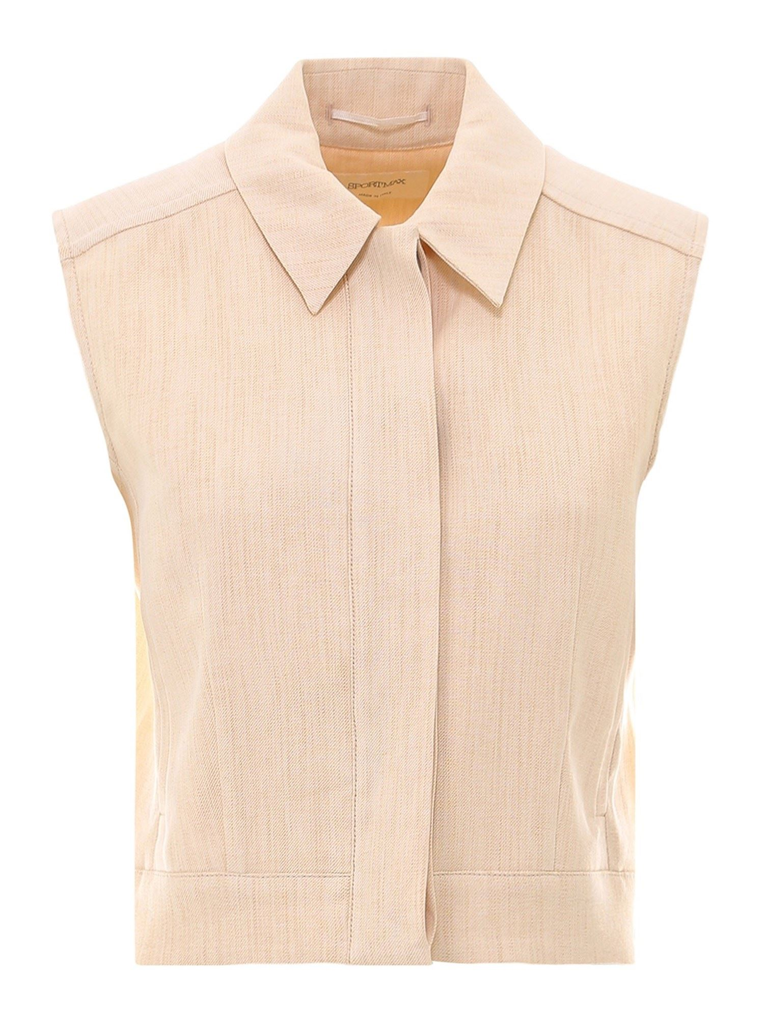 Sportmax LINEN COTTON SLEEVELESS SHIRT