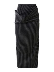Sportmax - Wool blend pinstripe trousers-skirt