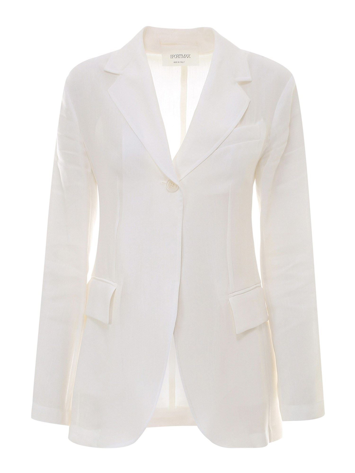 Sportmax SINGLE-BREASTED RAMIE VISCOSE BLAZER