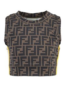 Fendi Kids - FF pattern tank top