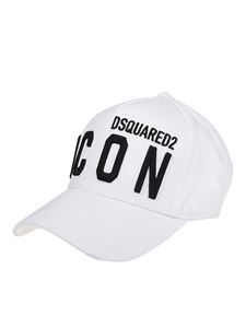 Dsquared2 - Berretto da baseball bianco ricamo Icon