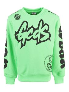 GCDS - Printed cotton sweatshirt in green