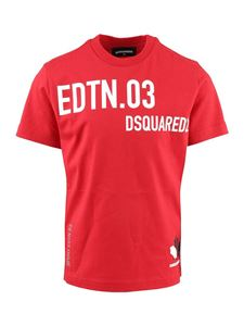 Dsquared2 - Logo printed T-shirt in red