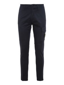Stone Island Junior - Stretch cotton cargo trousers