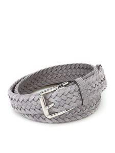 Tod's - Grey woven suede belt