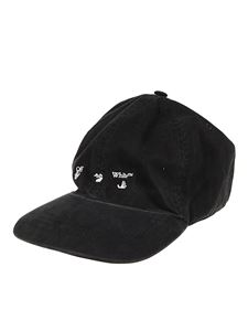 Off-White - Logo embroidery twill cap in black