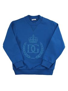Dolce & Gabbana Jr - Logo print sweatshirt in blue