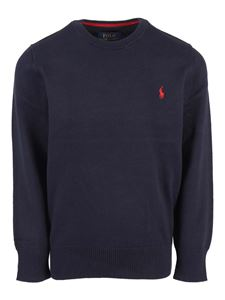 POLO Ralph Lauren - Logo embroidery roundneck sweater in blue