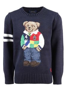 POLO Ralph Lauren - Logo embroidery sweater in blue