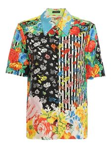 Versace - Floral mix patterned shirt