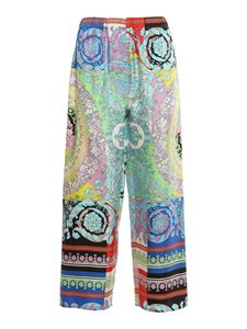 Versace - Baroque printed trousers