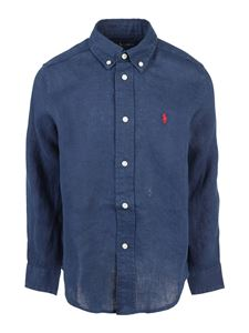 POLO Ralph Lauren - Camicia in lino Navy