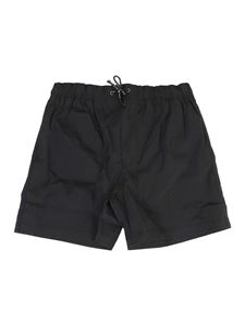 Dolce & Gabbana Jr - Nylon swim shorts in black
