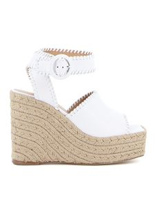 Paloma Barceló - Esequi wedge sandals in white