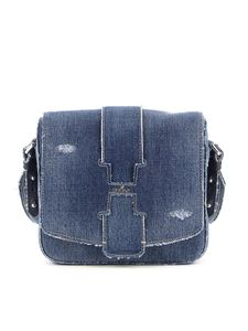 Hogan - Denim crossbody bag in blue