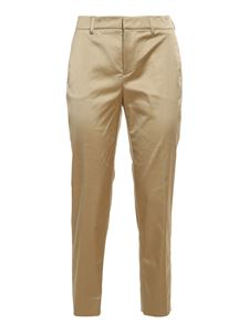 PT Torino - New York satin trousers in beige
