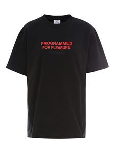 Vetements - Cotton quote T-shirt with embroidered logo