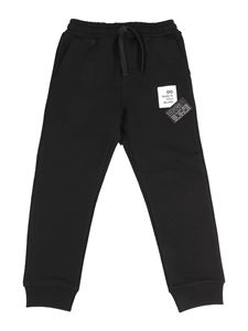 Dolce & Gabbana Jr - Logo patch tracksuit bottoms in black