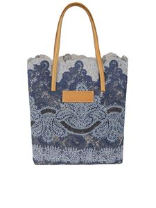 Ermanno Scervino - Seeds of Love lace tote in blue