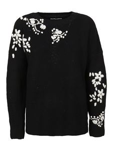 Ermanno Scervino - Crewneck wool sweater with cotton embroidery