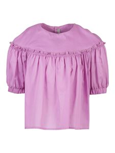 Il Gufo - Ruffled cotton blouse with rear bow