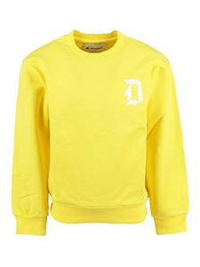 Dondup - Basic crewneck sweatshirt in yellow