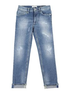 Dondup - Distressed effect George jeans in blue