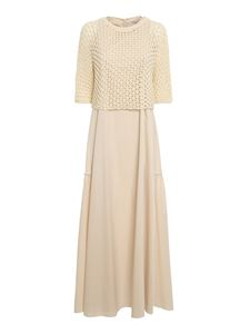 Peserico - Layered effect dress in cream color