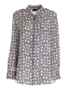 Les Copains - Geometric pattern oversize shirt in pink