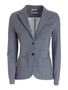 Circolo 1901 - White checked pattern jacket in blue