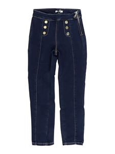 LIU JO Junior - Buttoned high waist jeans in blue