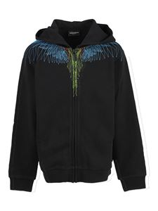 Marcelo Burlon Kids - Wings hoodie in black