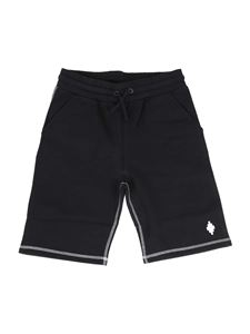 Marcelo Burlon Kids - Cotton Bermuda shorts in black