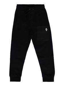 Marcelo Burlon Kids - Logo patch joggers in black