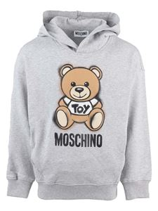 Moschino Kids - Teddy printed hoodie in grey